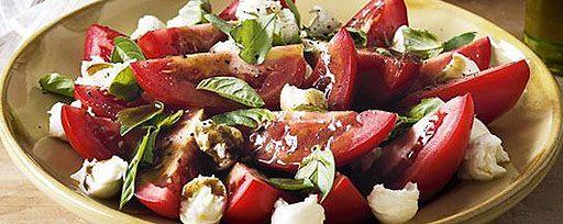 Salade de tomates et Bocconcini