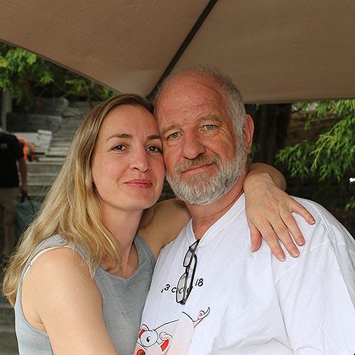 Ewa Wollemann with Christoph Klein