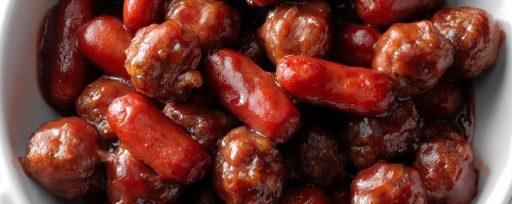 Boules de viande et saucisse