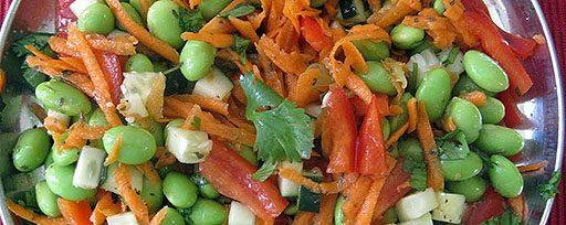 Salade de haricots mélangés