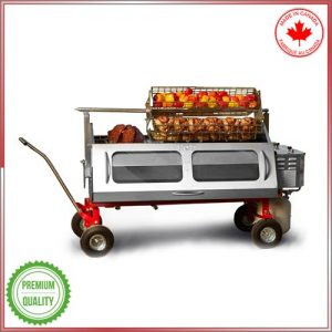 Versatile propane Spit Roaster and Outdoor Cooking Center
