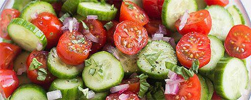 Salade de tomates et concombres